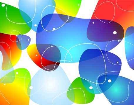 Abstract Colorful Glossy