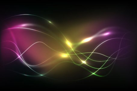 Abstract Wavy Light Streak Background (Free)
