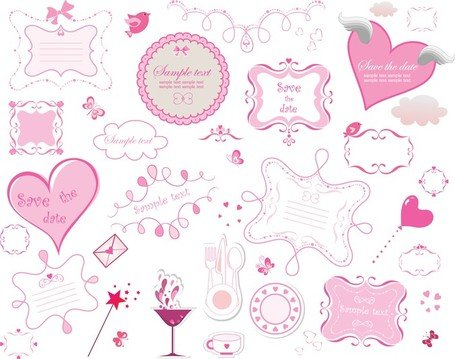 Pink Romantic Elements