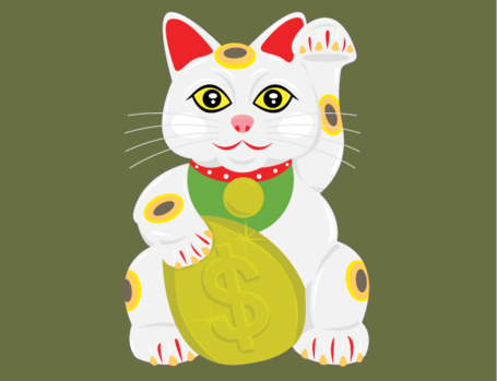 Lucky Cat Vector Free