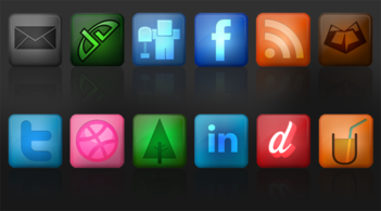 Sociala medier Icon Set