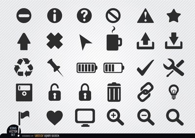Flat web icon set
