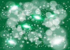 Green Snow Flake Background