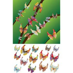 Vector Butterfly 000041 Abstract Antenna Art