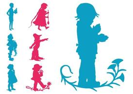 Kids Silhouettes Set
