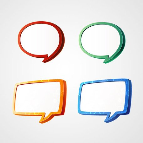 3D Speech Bubbles Vector Graphics (Free)