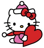 Libre Hello Kitty San Valentín Vector Clipart