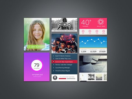 Kit UI widget (PSD)