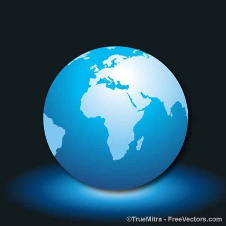 Glowing Globe Icon