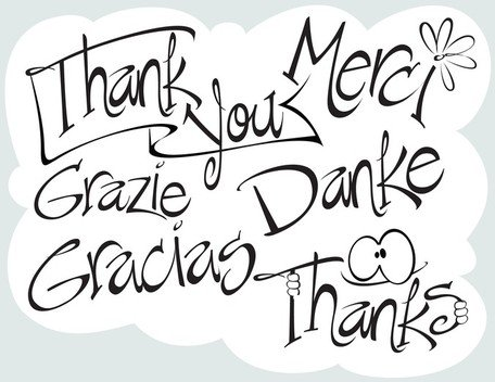 Say Thanks ~ Vectored Words