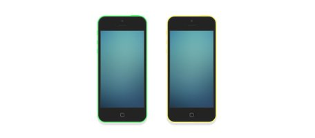 iPhone 5C Flat Mockup Set