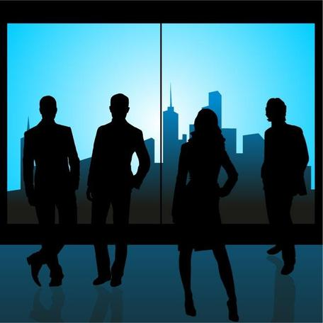 BUSINESS PEOPLE VECTOR GRAPHICS.eps