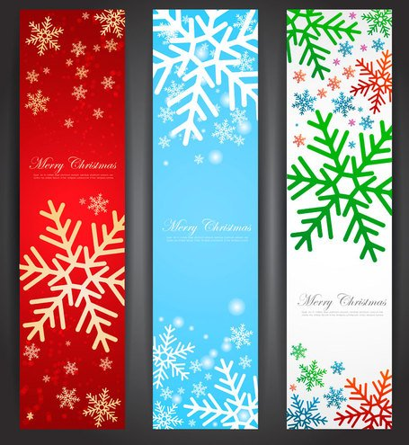 Christmas banner 2013 vector for free