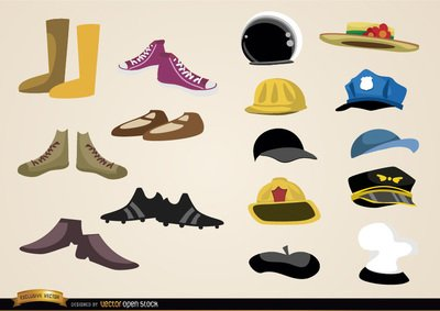 Shoes and hats collections