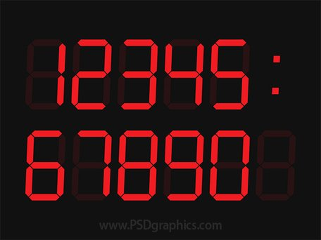 Digital clock template (PSD)