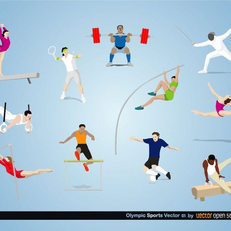 OLYMPIC SPORTS VECTORS.ai, free vector - Clipart.me