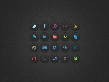 Dunkle Social Icons
