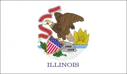 Nas Illinois flaga