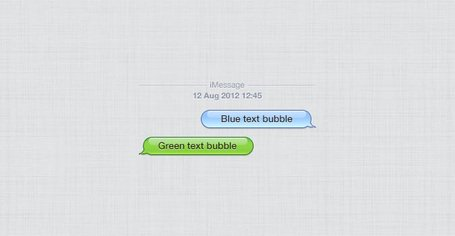 Apple iPhone Chat burbujas (PSD)