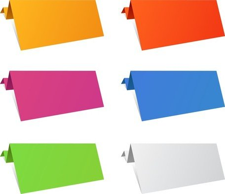 Colorful Origami Paper Sheets
