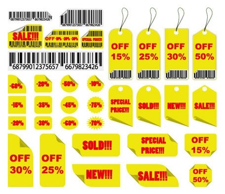 Yellow Sale Tag
