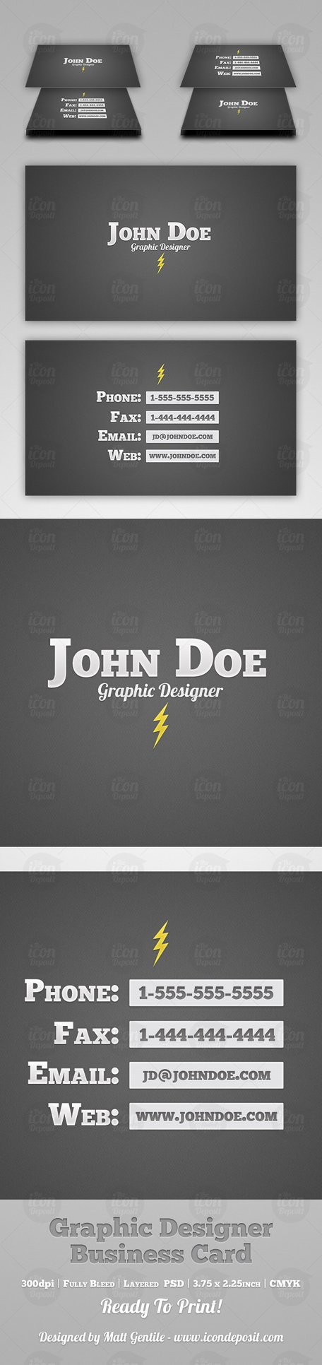 Simple Graphic Designer Business Card