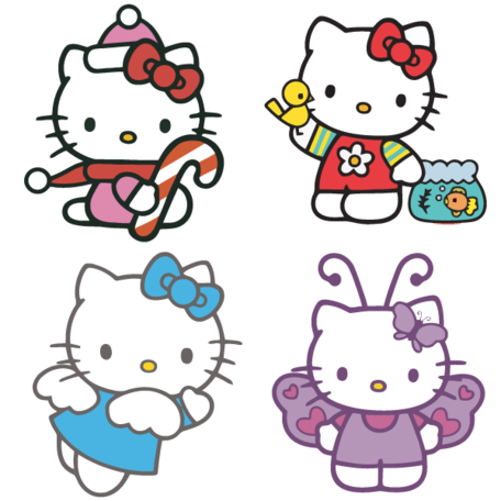 Hello Kitty vektor gratis