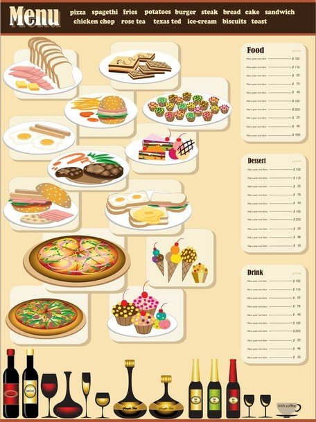 Menu restaurant Design 01