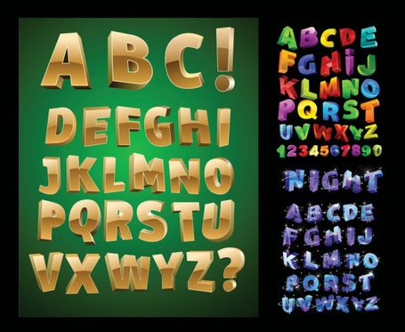 Three-dimensional letters