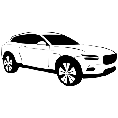 luxury black white volvo xc coupe car vector graphic. Black Bedroom Furniture Sets. Home Design Ideas