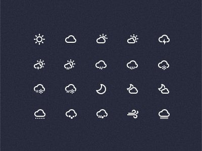 Weer Icons(PSD)
