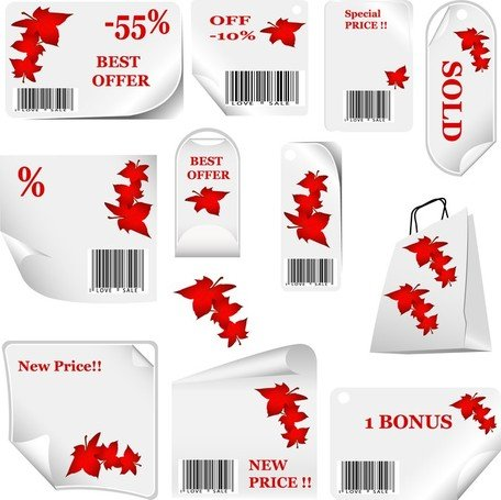 Vector Elements Of Discount Sales Fall