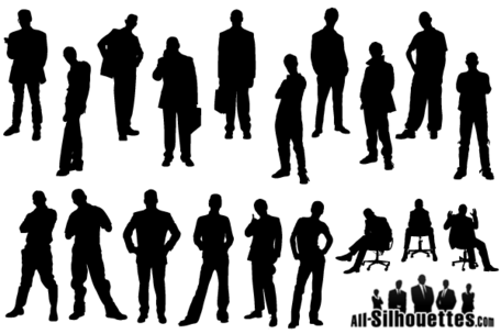 Man Silhouette Free Vector Pack