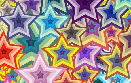Star Background Stars Colorful Pattern
