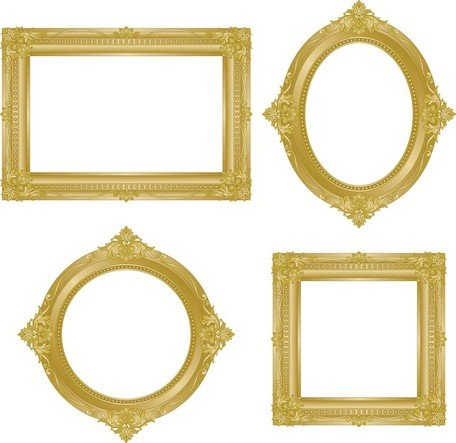 Antique Gold Frame Png Antique Gold Frame 02