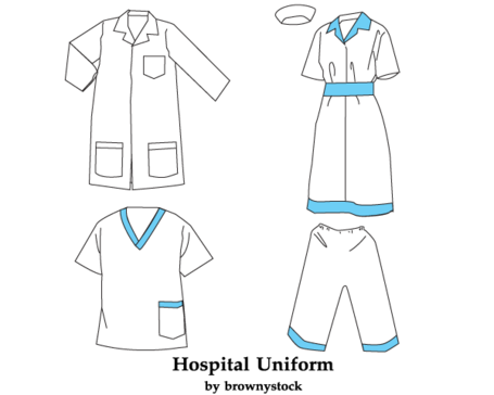 Hospital Uniform Vector Template Free