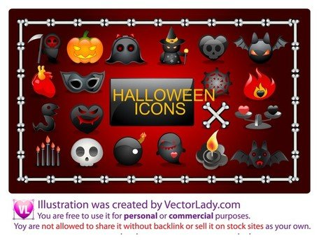 Vector Halloween pictogrammen