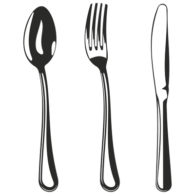 Black & White Kitchen Tool Set Sketch