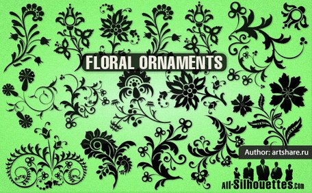 16 vector ornement floral