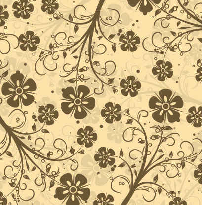 Patrón decorativo Floral Vector