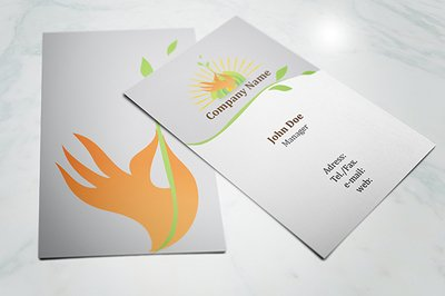 Front & Back Ecology Business Card