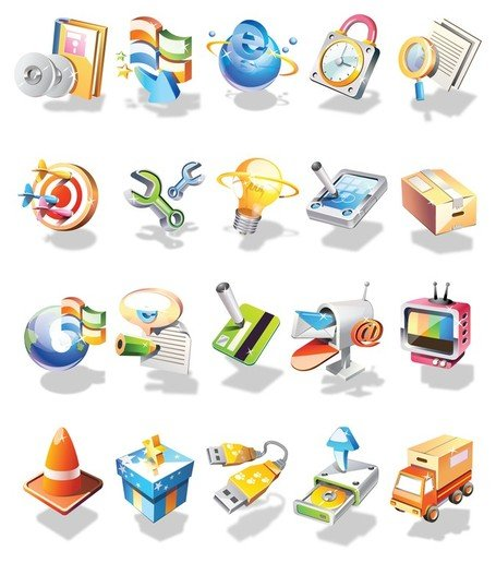 3D Vector Icon Set