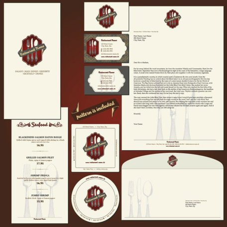 Restaurant menu label template 01