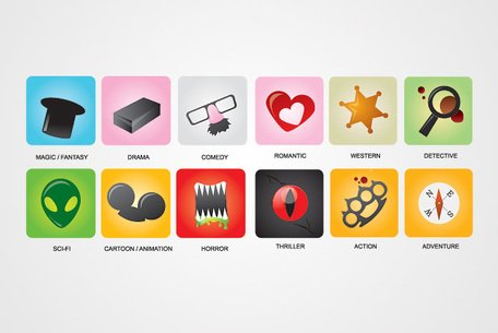 Film Genres Vector Icons (gratis)