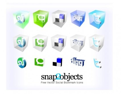 Vecteur libre Social Bookmark Icons