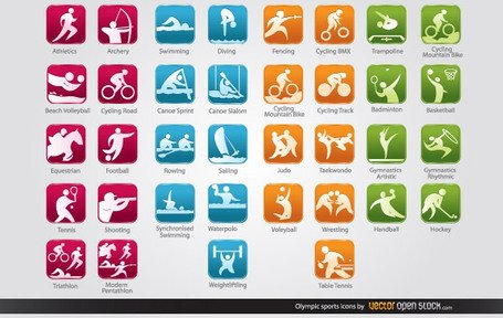 Olympic Sports Icons Free