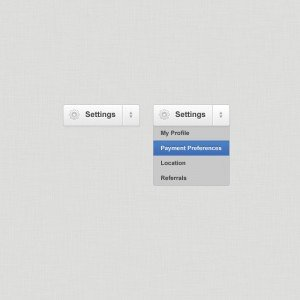 Clean, Crisp Settings Menu (PSD)