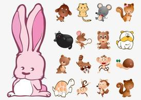 Cute Animals Vector Collection