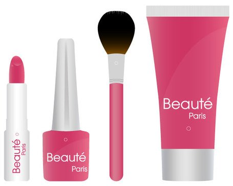 Cosmetic Products Vector Free Vectors Clipart Me