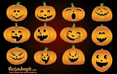 Funny Face Clipart Funny Pumpkin Face Pack